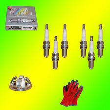 6 x Original NGK Laser Platinum BKR6EQUP 3199 Zündkerzen +Gratis Handschuhe