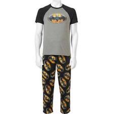 DC Comics Batman Mens 2pc Graphic T-shirt   Fleece Pajama Pants Sleep Set  Large c44c213d4