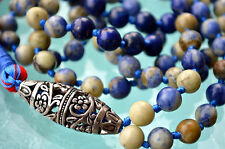 Sodalite 108 Hand Knotted Mala Buddhist Beads Necklace - Energized Karma Nirvana