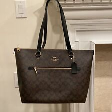 NWT Au Coach F79609 Signature Gallery Tote Coated Canvas PVC Shoulder Bag