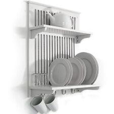 da parete bianco cucina scolapiatti / Dryer con viti a gancio - Bianco wd1873
