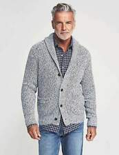 Faherty Men's Marled Cotton-Cashmere Cardigan