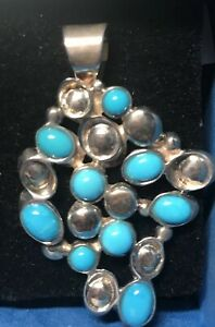 JAY KING Sleeping Beauty Turquoise Pendant, Sterling Silver  NWT Retail $150