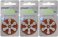 18 x Powerone Mercury Free Hearing Aid Batteries Size 312 Power one Exp Sep 2021
