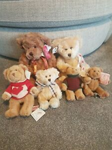 Bundle Of 6 Vintage Russ Bears From The Past Kellogs Twinings
