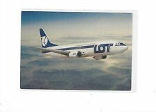 LOT Polish Airlines issued Boeing 737-400  cont/l postcard