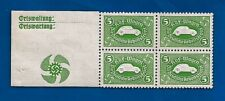 1938 Nazi Germany embossed KDF WAGEN VW Volkswagen 3rd Reich saving stamps MNH D