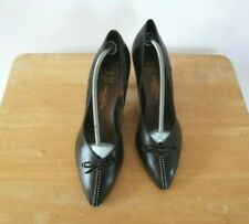 Vintage Bally Ladies Size 7.5  Brown Leather Kitten Heels Court Shoes