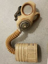 Vintage WWII Respirator Gas Mask in Canvas Bag Dated 1940 No 4A ORIGINAL