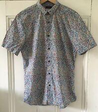 "Liberty X Topman Premium Mens Geometric Print Short-Sleeve Shirt S Ch 36-38"" VGC"