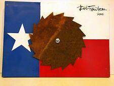 TEXAS ARTIST BOB FOWLER ORIGINAL OIL ON BOARD MIXED MEDIA LONE STAR