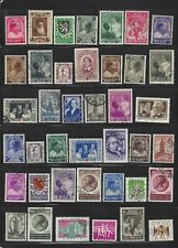 Belgium Large Lot of Used Semipostals 1930s - 1950s, Good Cv