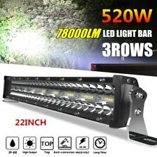 22'' LED Light Bar 520W Straight 78000LM Upgrated for Offroad Driving Fog Lamp