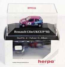 Herpa 035910, Renault Clio UK Cup 93, 1:87, dans le carton d'origine #ab1500