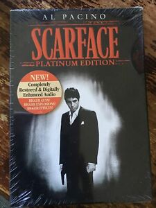 Scarface (DVD, 2006, 2-Disc Set, Platinum Edition) New Factory Sealed