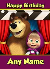 - MASHA AND THE BEAR - PERSONALISED BIRTHDAY CARD DAUGHTER NIECE GRANDDAUGHTER