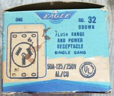 32 EAGLE BROWN FLUSH RANGE AND POWER RECEPTACLE 50A, 250V