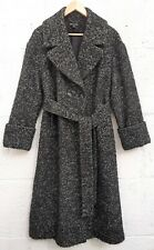 WHISTLES - Black+White Chunky Wool Blend Long Coat - M/L - Excellent Condition.