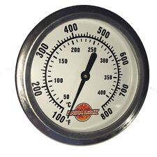 "2-5/8"" BBQ smoker pit thermometer charcoal grill TEMP GAUGE 1 3/8"" stem ACCURATE"