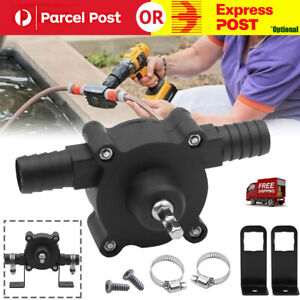 Hand Electric Drill Drive Self Priming Pump Water Oil Transfer Small Pumps Home