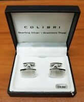 Sterling Silver Stainless Cufflinks Colibri Rectangle