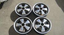 "PORSCHE  FUCHS Wheels 911/912/914-6 Original Wheels 1969 14"" x 5 1/2"" GERMAN SET"