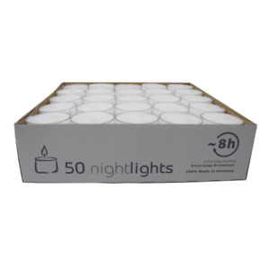 Clear Cup Tea Lights Pack of 50 by Olore Home