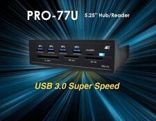 Atech 4-Port Hub/Card Reader PRO-77U USB Hub NEW