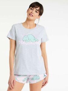 BNWT Peter Alexander Size 10/12 Dino Snore Boyfriend Tee Shirt  SALE