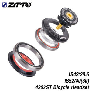 """ZTTO 4252ST Bicycle Bearing Headset 42/52mm 1 1/8""""-1 1/2"""" Tapered Tube Fork 91g"""