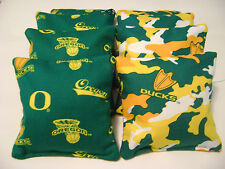 8 Oregon Ducks Cornhole Bag Tailgate Toss Game Top Quality Camo Regulation Cg