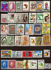 76T5 TUNISIE 39 timbres oblitérés sujets divers