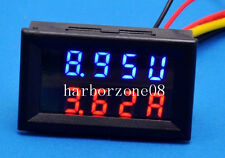 DC 0-30V 10A Voltmeter Ammeter Blue+Red LED Panel Amp Digital Volt Gauge