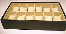 BOX SCATOLA CUSTODIA PORTA OROLOGI 12 posti