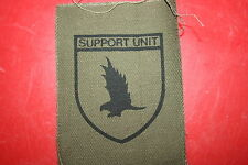 RHODESIAN ARMY BSAP B.S.A.P. SUPPORT UNIT CLOTH PRINTED BADGE