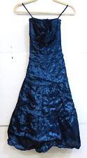 NWT Nicole Miller Women's Size 2 Deep Metallic Blue A-Line Dress $ 430 Retail MS