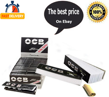 OCB Premium Black King Size Slim Plus Filter Tips Rolling Papers  32 Booklets