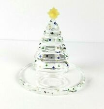 Partylite Sparkle Lite Crystal Christmas Tree Tealight Holder No Box