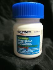 "EQUATE 24hr NON-DROWSY ALLERGY RELIEF ""COMPARE TO CLARITIN""  150 TABLETS MAY2019"