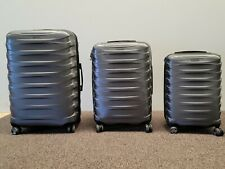 Ricardo 3 Piece Hardside Spinner Set Gray Luggage Polycarbonate Dome Suitcase
