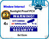 4 Window Internal Weatherproof PVC Sticker CCTV Camera Surveillance Warning Sign