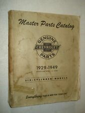 1929 1949 Chevy Master Parts Book Catalog Truck Car Numbers List 48 47 42 41 39
