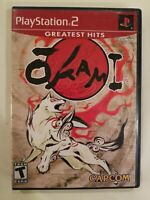 Okami (Sony PlayStation 2 2006) RARE GREATEST HITS COMPLETE  PS2 FREE S/H
