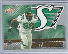 Saskatchewan Roughriders CFL Matt Dominguez 2003 Atomic Gold Rookie RC 47/175