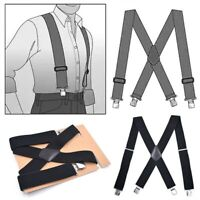 Big &Tall Mens Industrial Strength Ballistic Nylon Clip End Work Suspenders Cxz