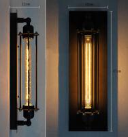 8W LED E27 Retro Antike Vintage IndustrieWandlampe innen Drahtkäfig Wandleuchten