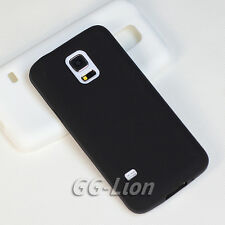 soft Silicone Gel Rubber Skin Cover Case for Samsung Galaxy S5 mini, G800F.Black