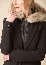 Veronica Beard Fur Puffer vest Black Hoodie Dickey NWT- $550