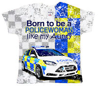 "DF Baby T-Shirt All Over Print ""Born to be a Policewoman like my Aunty"" Police"