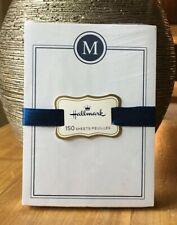 "HALLMARK Letter M Initial Monogram 150 Sheet Note Pad Notepad Paper 4""x5.5"""